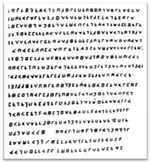La Buses Kryptogramm, Dieses Werk ist gemeinfrei, weil seine urheberrechtliche Schutzfrist abgelaufen ist.