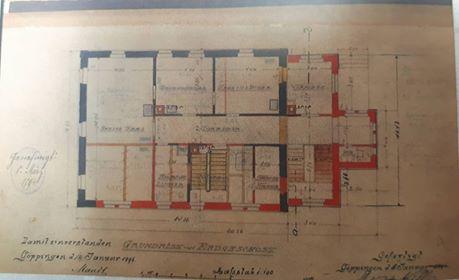 Baugenehmigung für den Bau des Falkenturms vom 2./4. Januar 1894.  © Melli Bäurle