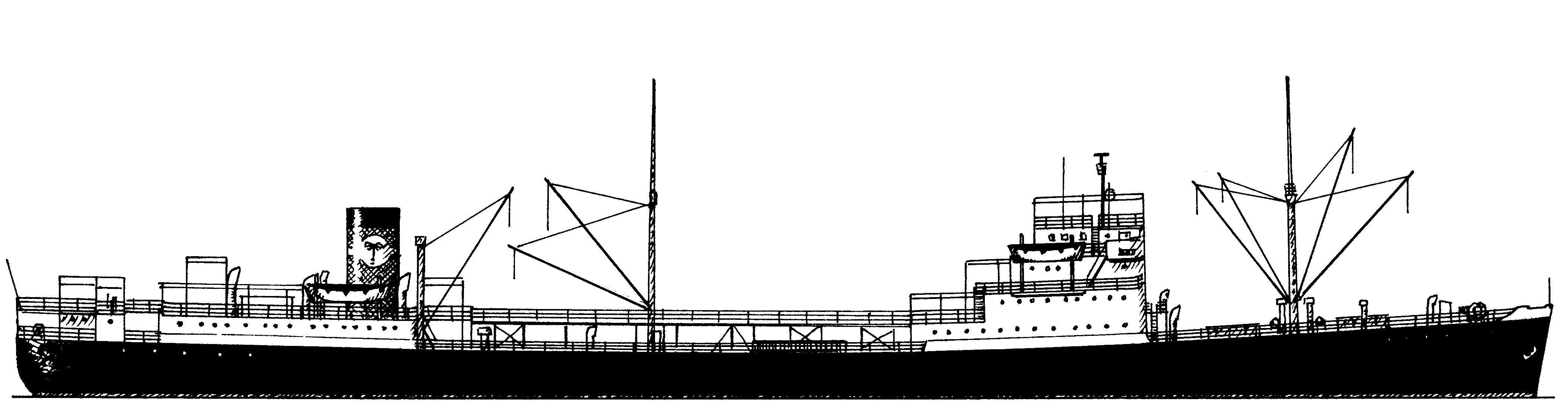Tema Palm - 1953 AG Weser Seebeckwerft - Bremerhaven für Palm Line - London, UK (Zeichnung: K.K. Krüger-Kopiske)