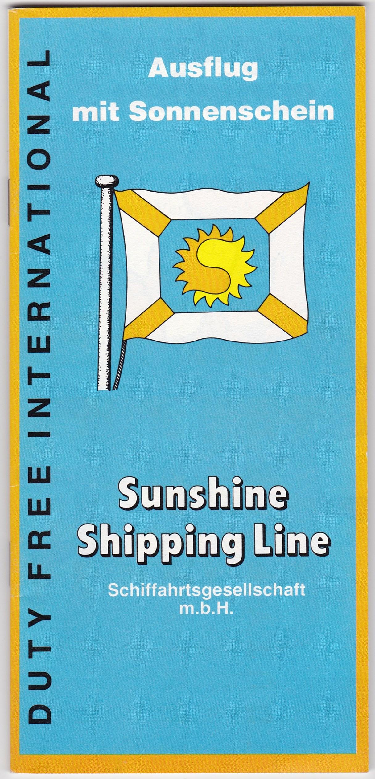 Warenprospekt Sunshine Shipping Line 1980er Jahre