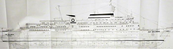 Auszug Generalplan - M.S. Tor Hollandia (Flender Werke, Lübeck 1966-67)