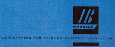 I&B Modellbau - Logo 1960er Jahre