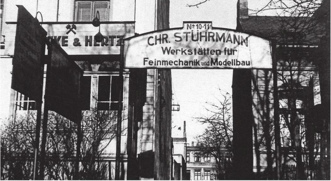 Ehem. Modellbaubetrieb Chr. Stührmann - Hamburg (mit freundlicher Genehmigung von Klaus Tornier)
