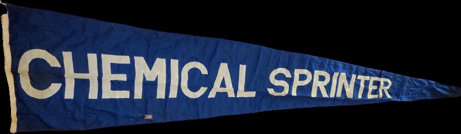 Orig. Schiffswimpel (3,80 Meter) des Chemikalientaners M.T. Chemical Sprinter (BNR 1139 - Bj. 1969) (Sammlung Modellreederei)