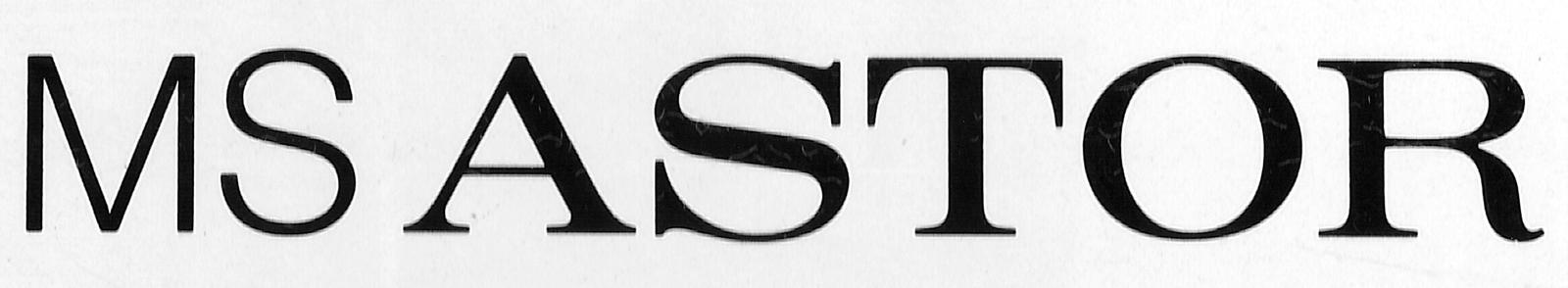 Schriftzug der MS Astor