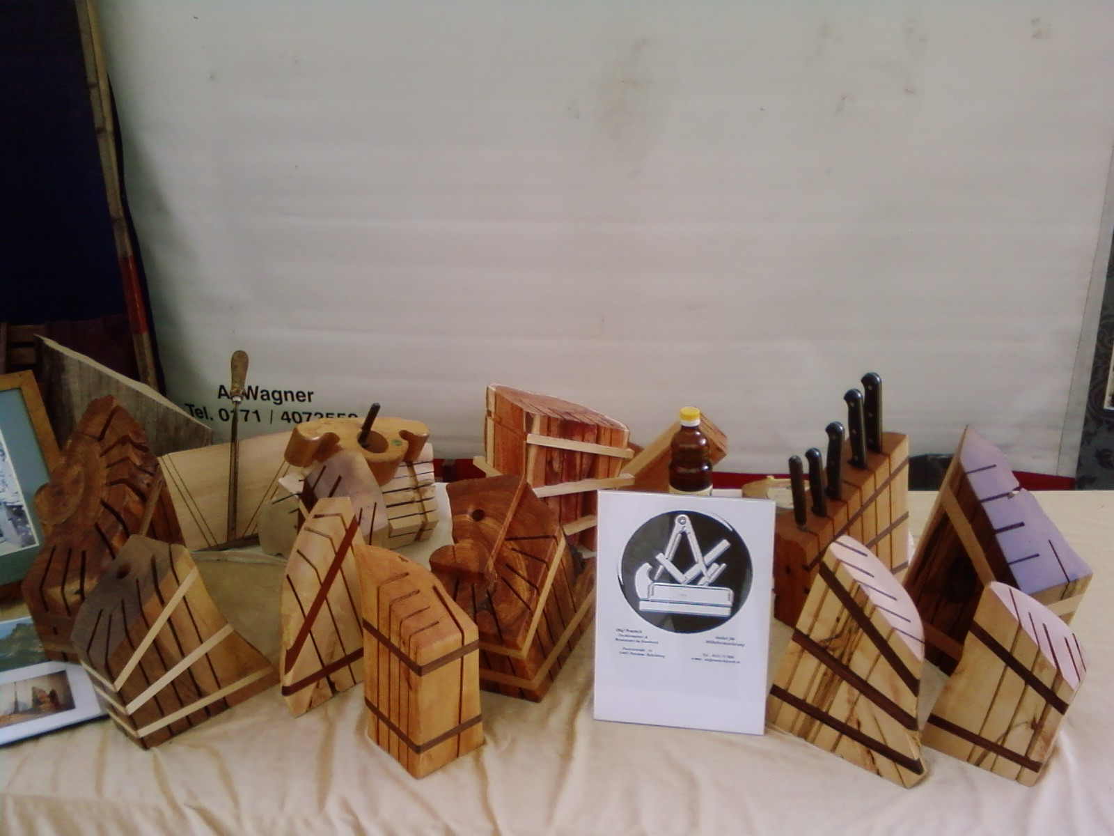 Messerblöcke Unikate, aus heimischen Holz