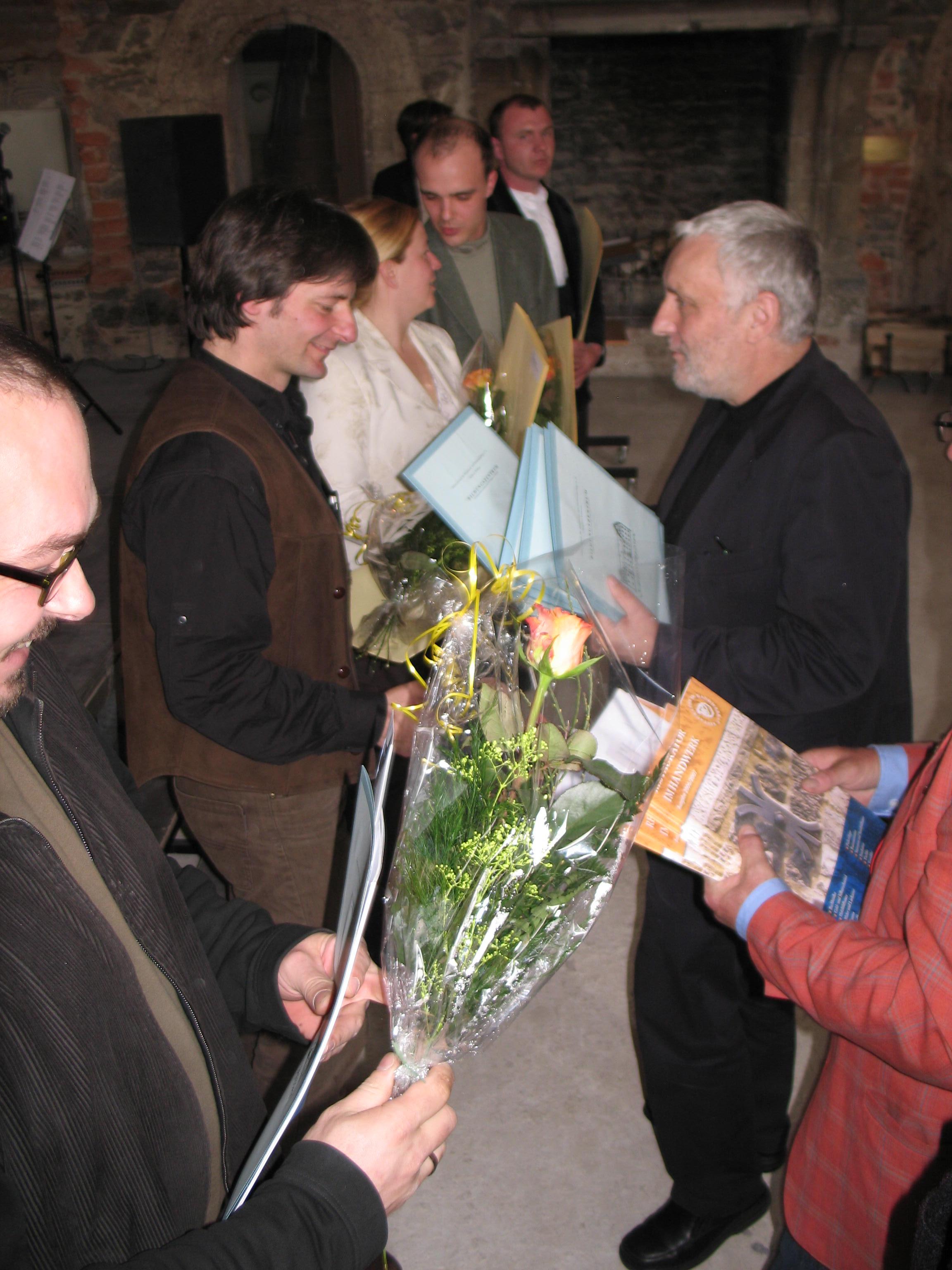 nach bestandener Prüfung zum Restaurator im Handwerk, 2007 in Trebsen