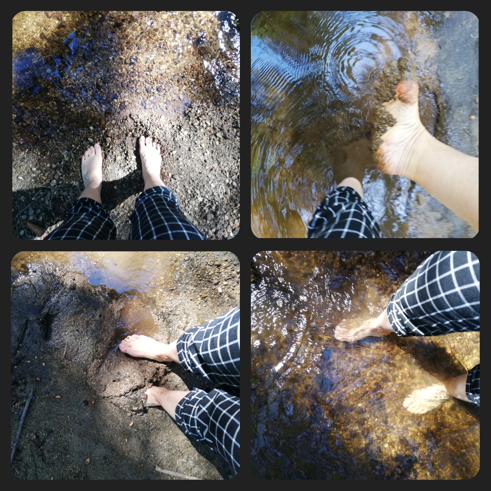 Barfuß-Challenge Wasser