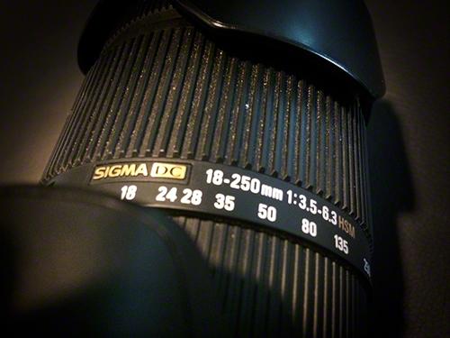 Sigma 18-250/3,5-6,3 Zoomobjektiv Canon EF