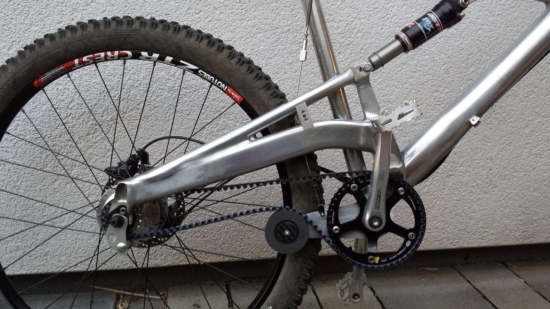 Beispiel für gereinigtes Fahrrad