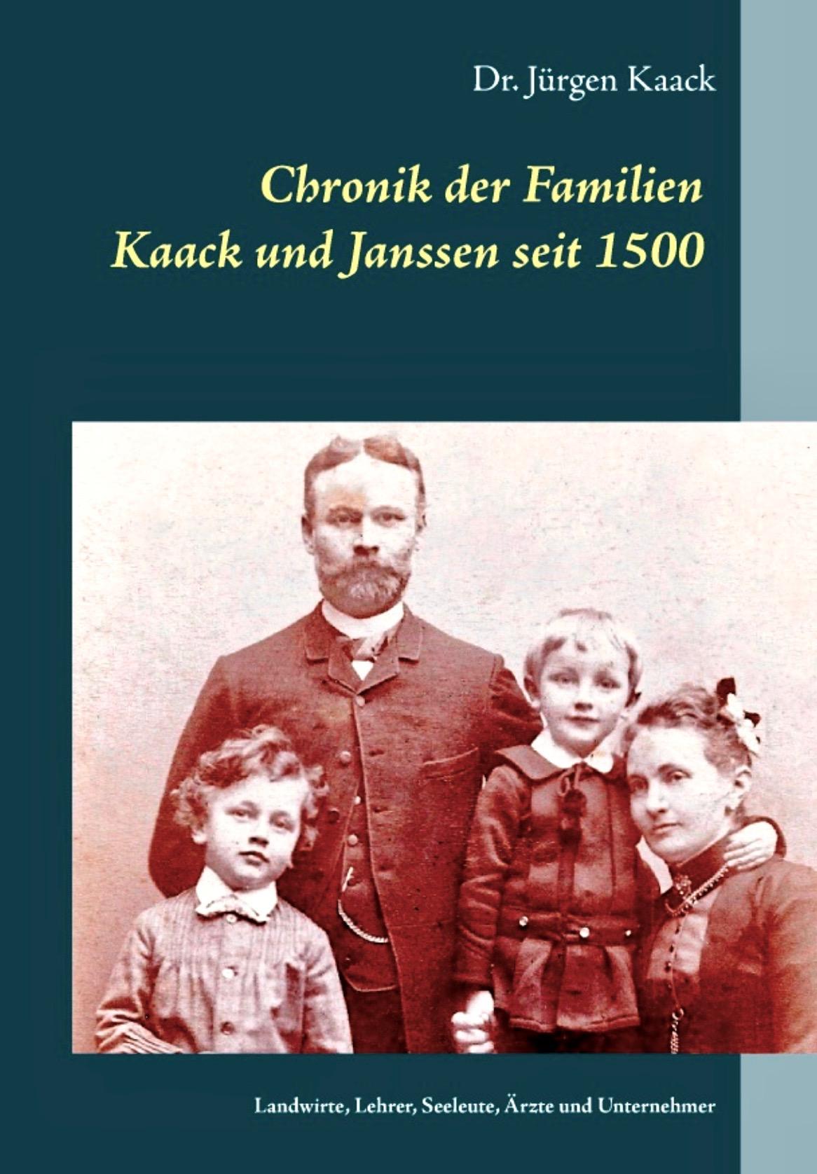 Eine Chronik der beiden Familienzweige Kaack und Janssen, die aus dem Umfeld von Bordesholm stammen bzw. aus Eckernförde. Die ältesten Kaack waren Hufner, nach 300 Jahren wird ein Nachkomnme Lehrer.