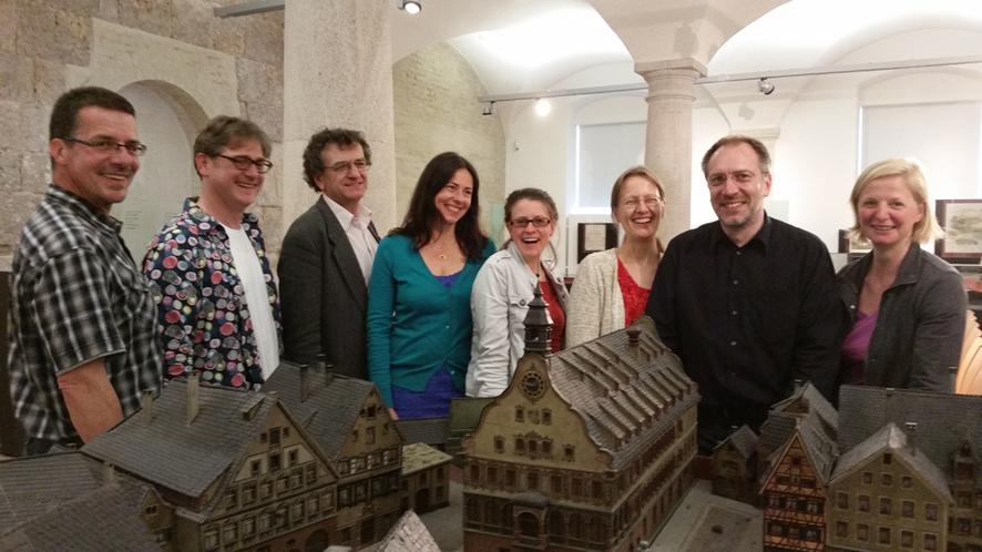 Das Scherer-Ensemble im Gewölbe des Ulmer Schwörhauses (Foto: Dr. Gudrun Litz)