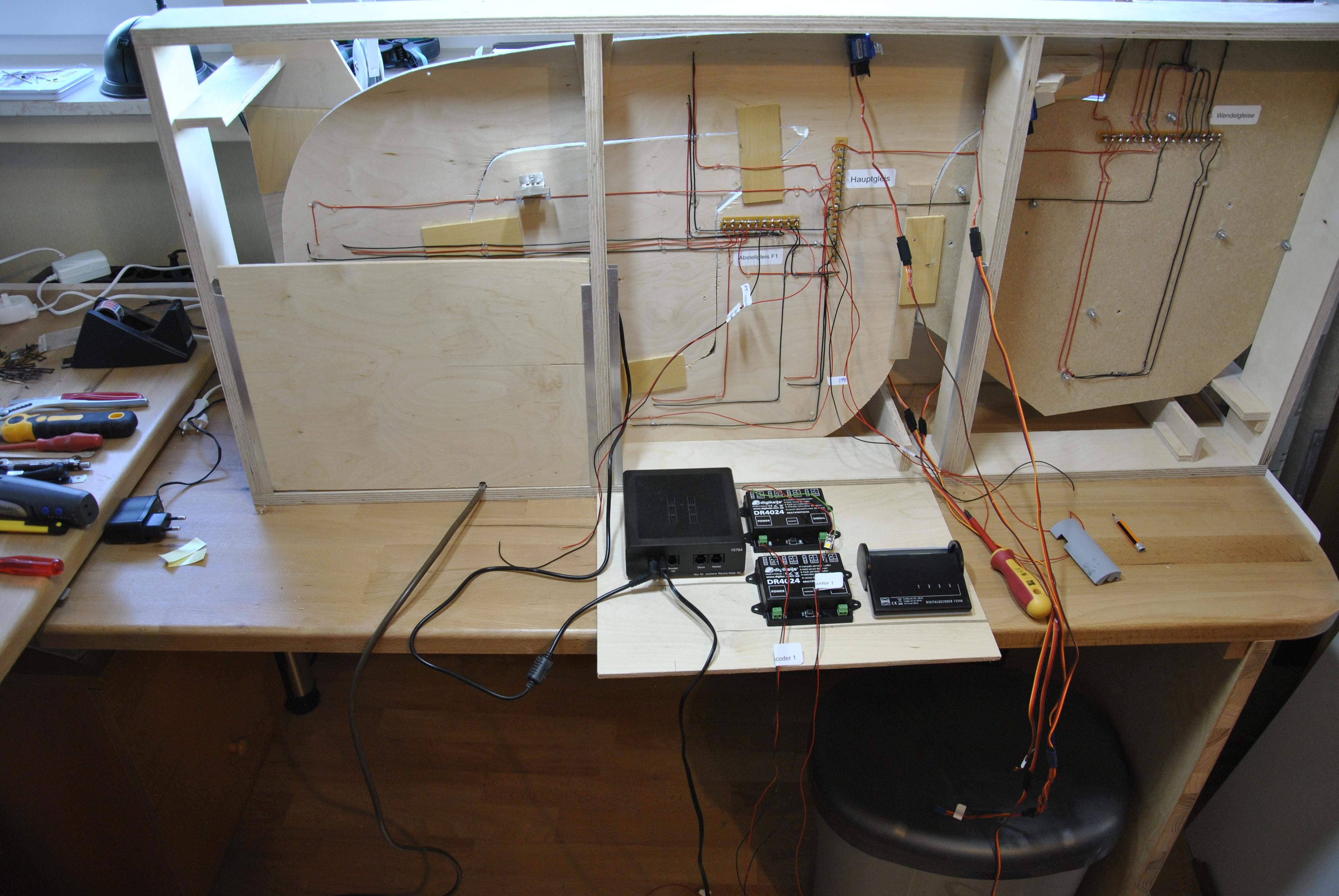 Elektronik eingeklappt