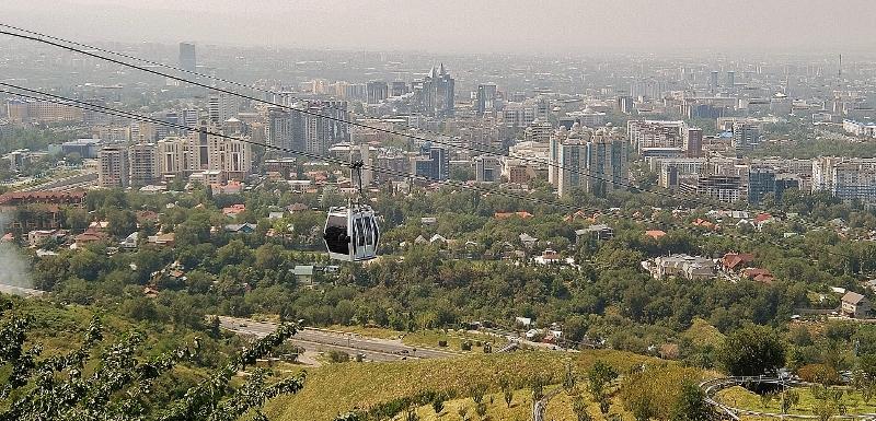Blick über Almaty