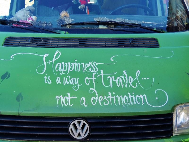 Das Motto auf Noelles Bus gefällt mir!