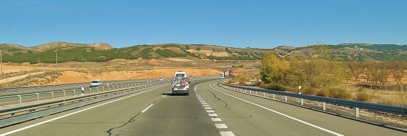 Wir durchfahren die Weiten Kastiliens und Aragons