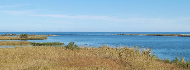 Hinter der Lagune liegt das Mittelmeer - für uns heute nicht erreichbar