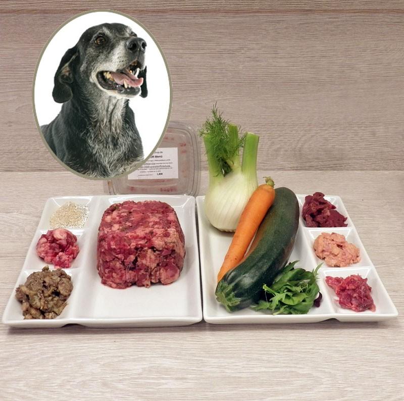 """Alle Menüs """"grob"""" gewolft mit frischem Klasse1 Gemüse. Sie werden die Frische riechen. Absoluter Gaumenschmaus."""