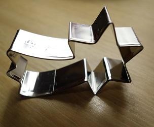 emporte-pièce 'étoile filante', acier inoxydable, dimension 8 cm, 2,50 €