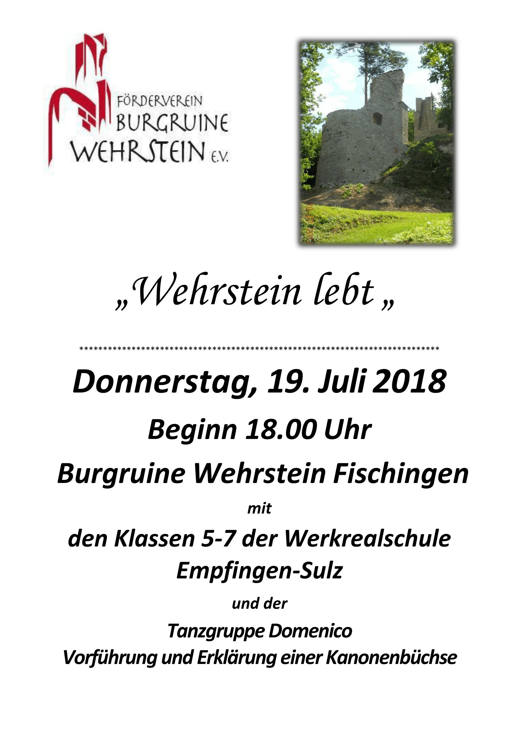 "Event-Plakat ""Wehrstein lebt"""