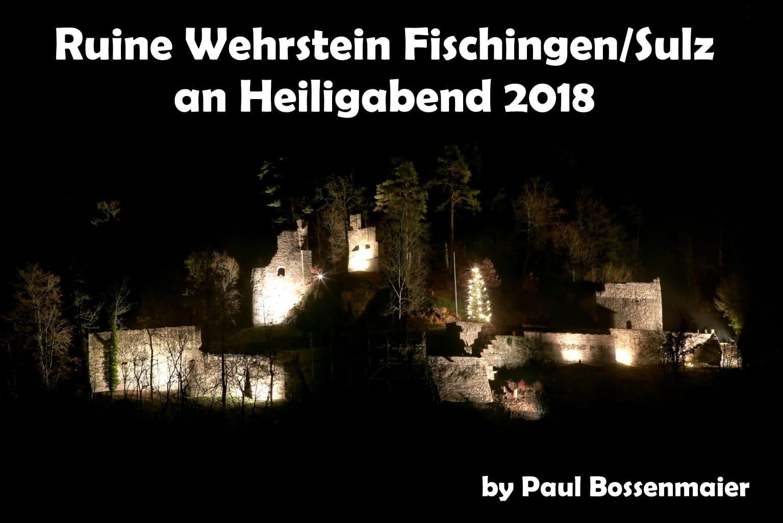 Ruinenbeleuchtung am Heiligabend 2018