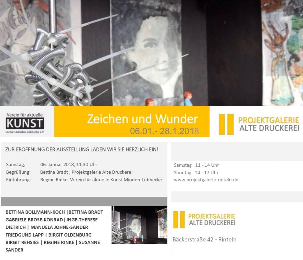 """Einladung Ausstellung """"Zeichen und Wunder"""""""