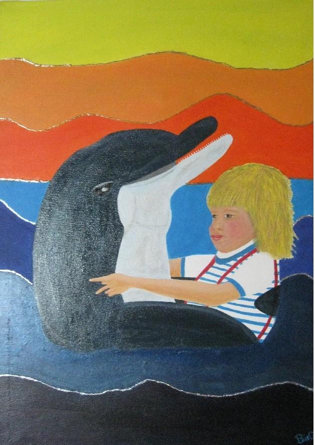 Junge + Delfin