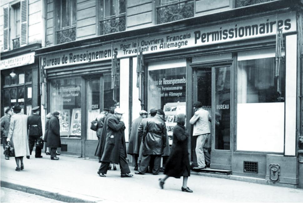 Werbebüro der deutschen Arbeitsverwaltung zur Einstellung von Fremdarbeitern in Deutschland in Paris 1941