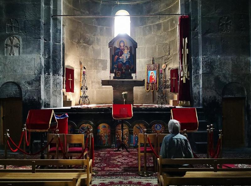 In der Kapelle der Klosteranlage Tegher