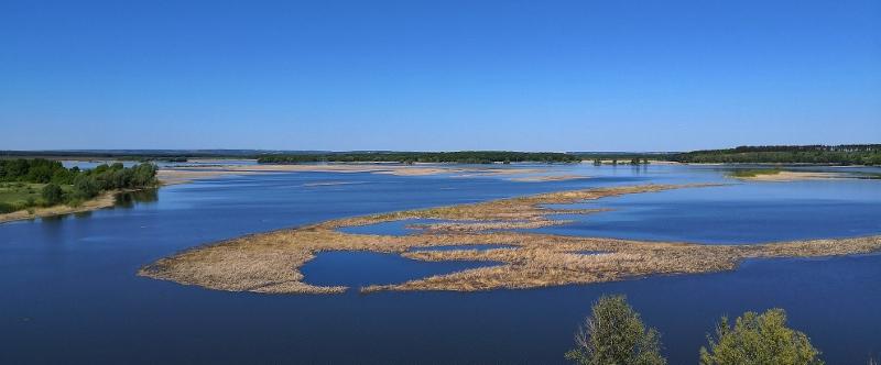 Die Wolga bildet bei Kasan ein riesiges Seengebiet