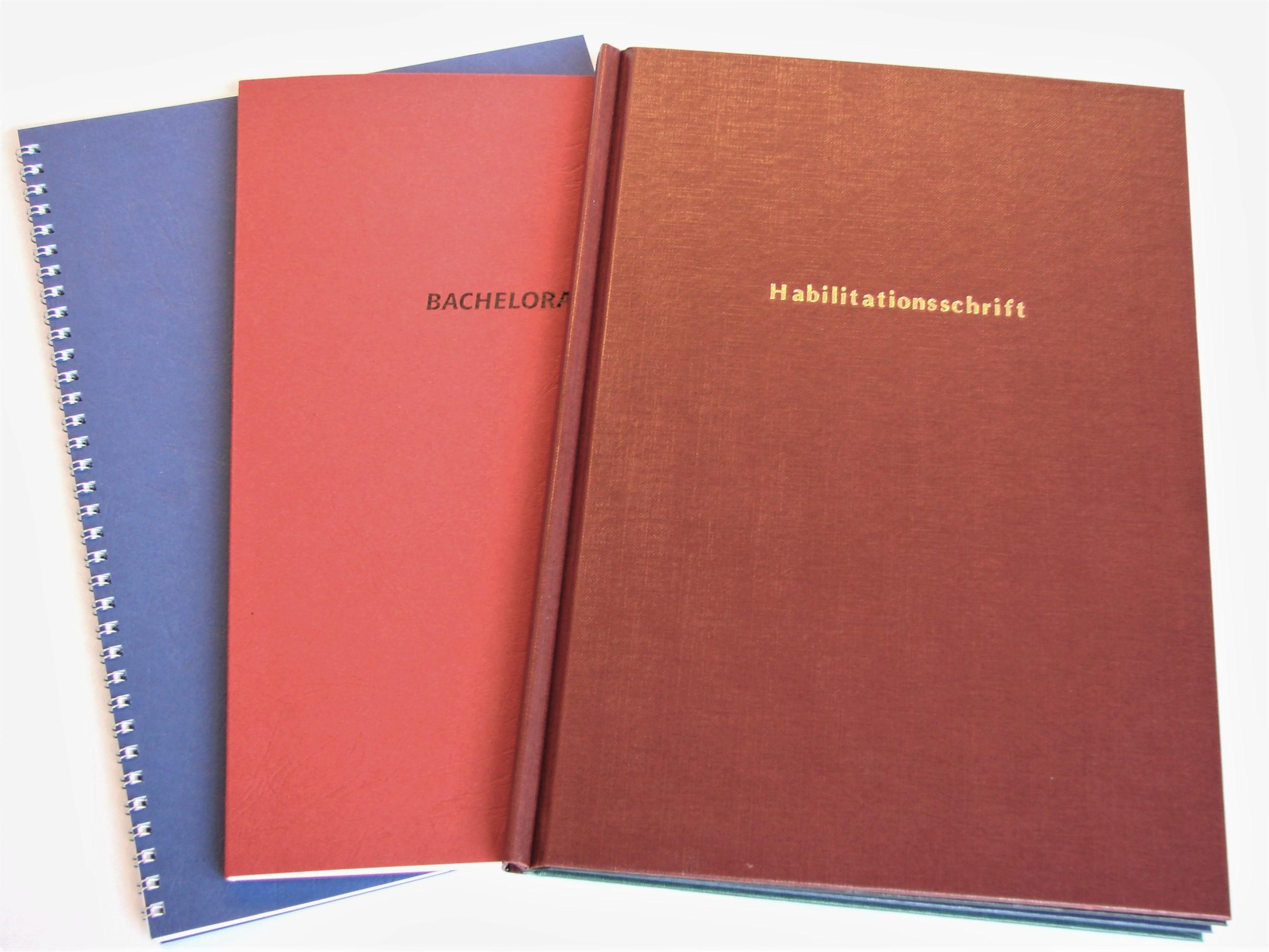 Spiral-, Softcover-, Hardcover-Bindungen
