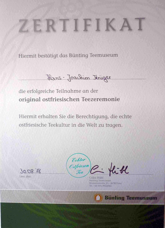 """Alle Teilnehmer erhielten nach der """"erfolgreichen Seminarteilnahme"""" DAS Zertifikat"""