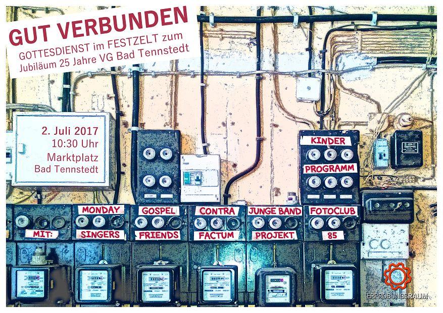 """Plakat """"GUT VERBUNDEN"""" 25 Jahre VG Bad Tennstedt"""