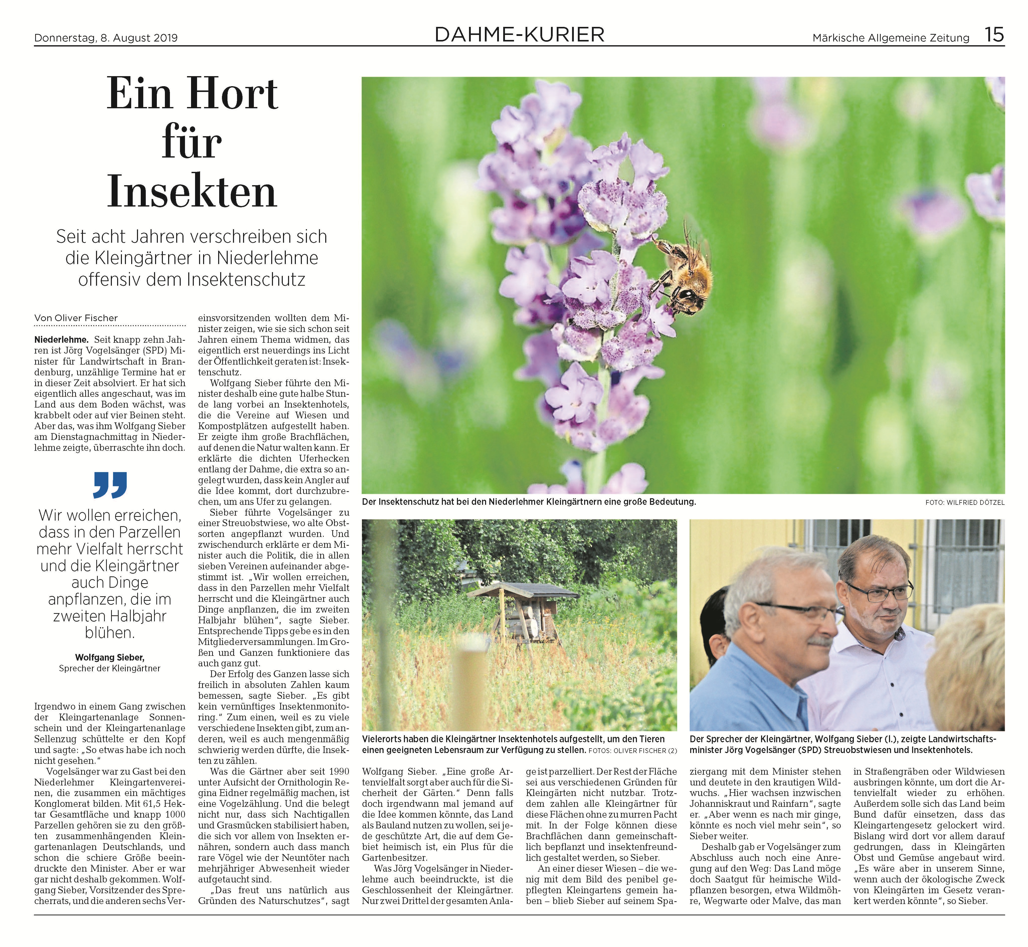 Landwirtschaftsminister Jörg Vogelsänger (SPD)  Zum vergrößern klicken