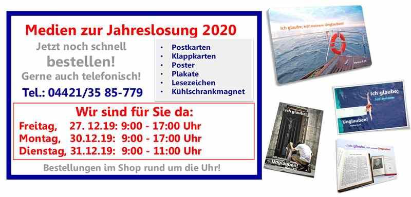 Jahreslosung 2020 Postkarten bestellen