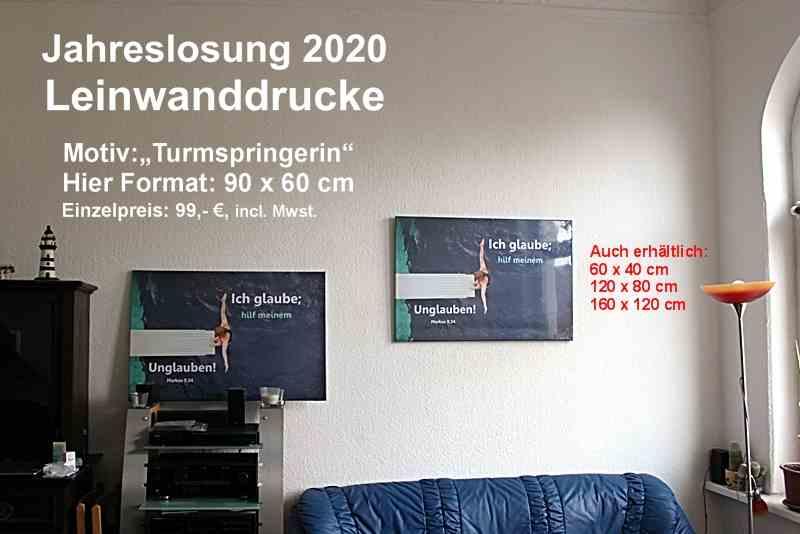 Jahreslosung 2020 - Leinwanddruck  -Leinwandbild