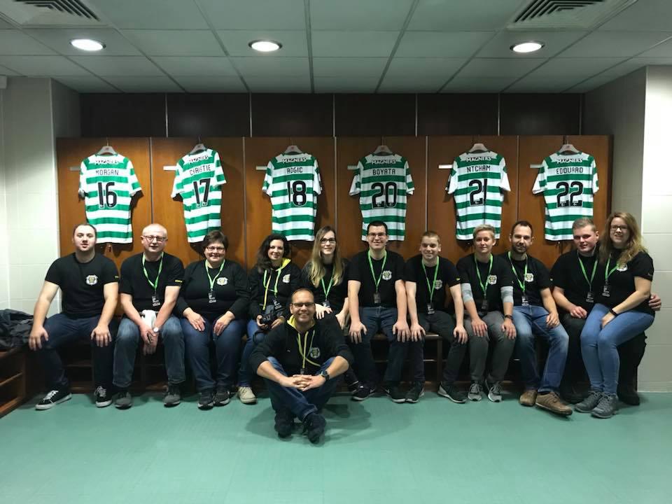 In der Umkleidekabine von Celtic Glasgow