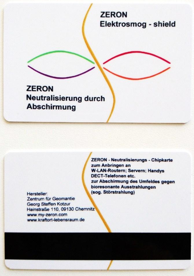 Elektrosmog - Schutzschild  Zeron