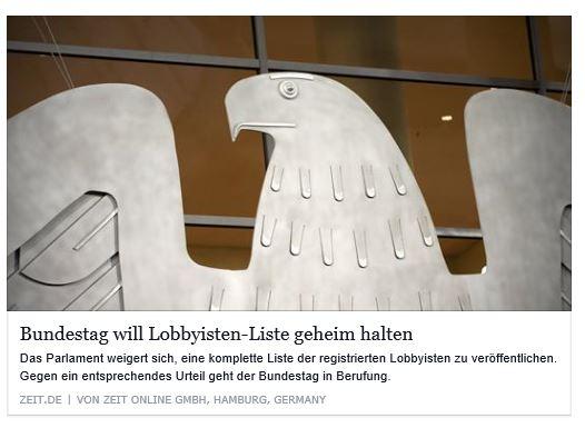 Lobbyisten siegen