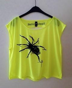 Neon Shirt SPINNE gelb von Sophia Beste