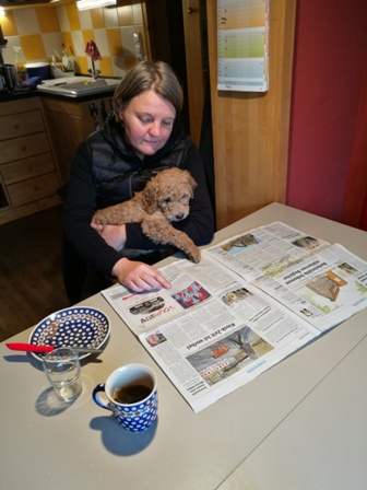 Beau liest Zeitung