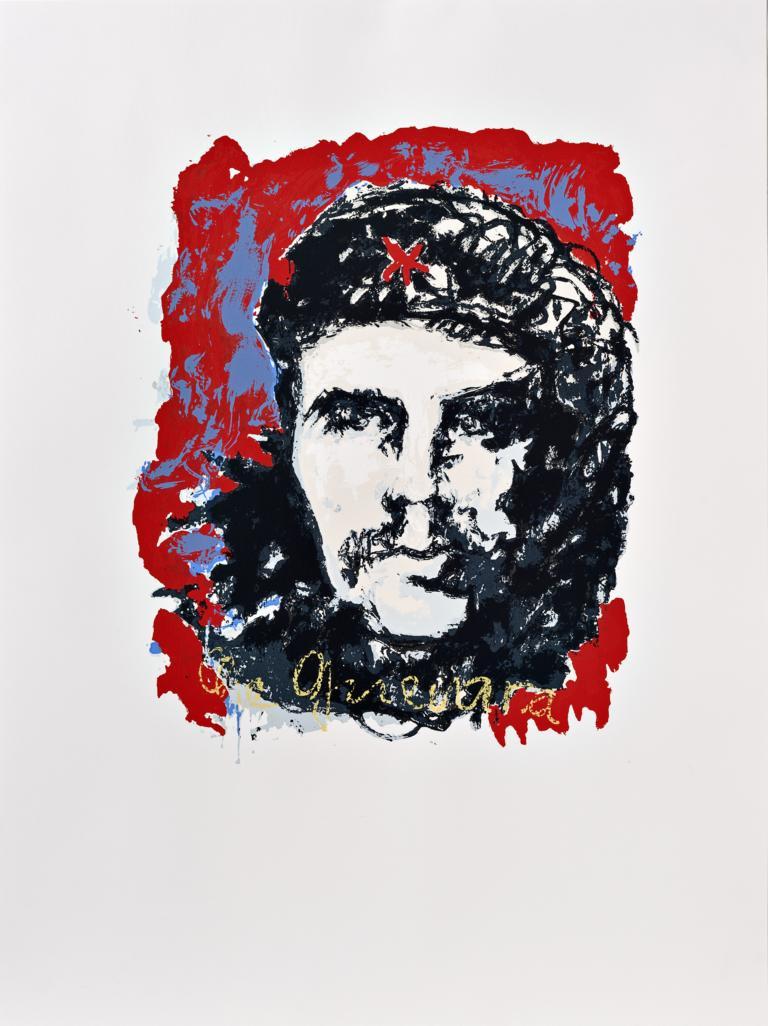 Jüngste Serigrafie von Armin Mueller-Stahl - in den Farben beschränkt auf blau, weiß und rot, den Farben der kubanischen Nationalflagge.