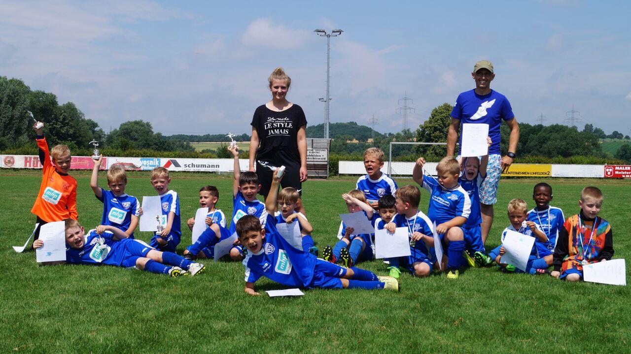 Die Teams der G1 und G2 der FSK Vollmarshausen