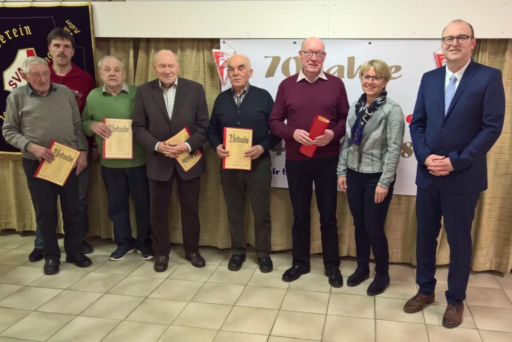 Willi Kern (65), Uwe Eberlein, Ernst Geuter (65), Walter Hahn (60), Helmut Scharf (60), Fred Hahn (60), Monika Münich und             Hans-Dieter Kern