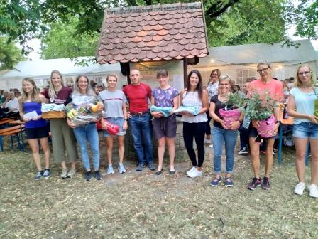 Die Siegerinnen beim 22. Schloßberglaufes 2019