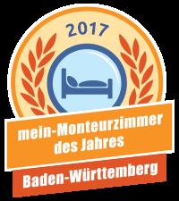Landesssieger - mein-Monteurzimmer des Jahres 2017