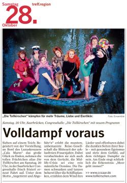 treff.region 28.10.2017 - Volldampf voraus