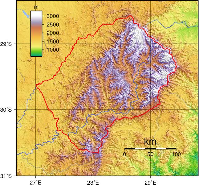 Topografische Übersichtskarte © Sadalmelik (Wikimedia Commons, Public Domain)