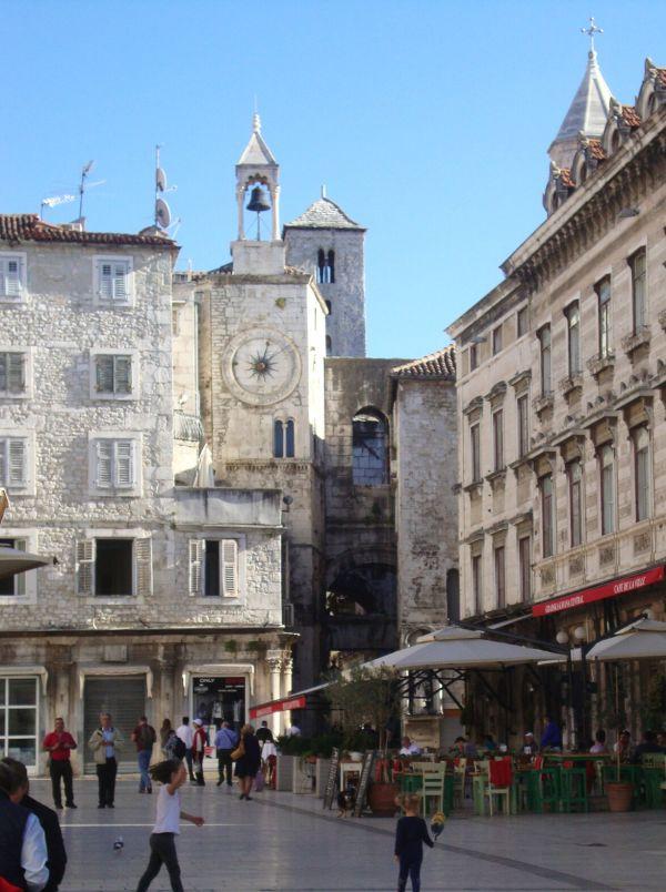 Altstadt Split neben der Palast-Stadt