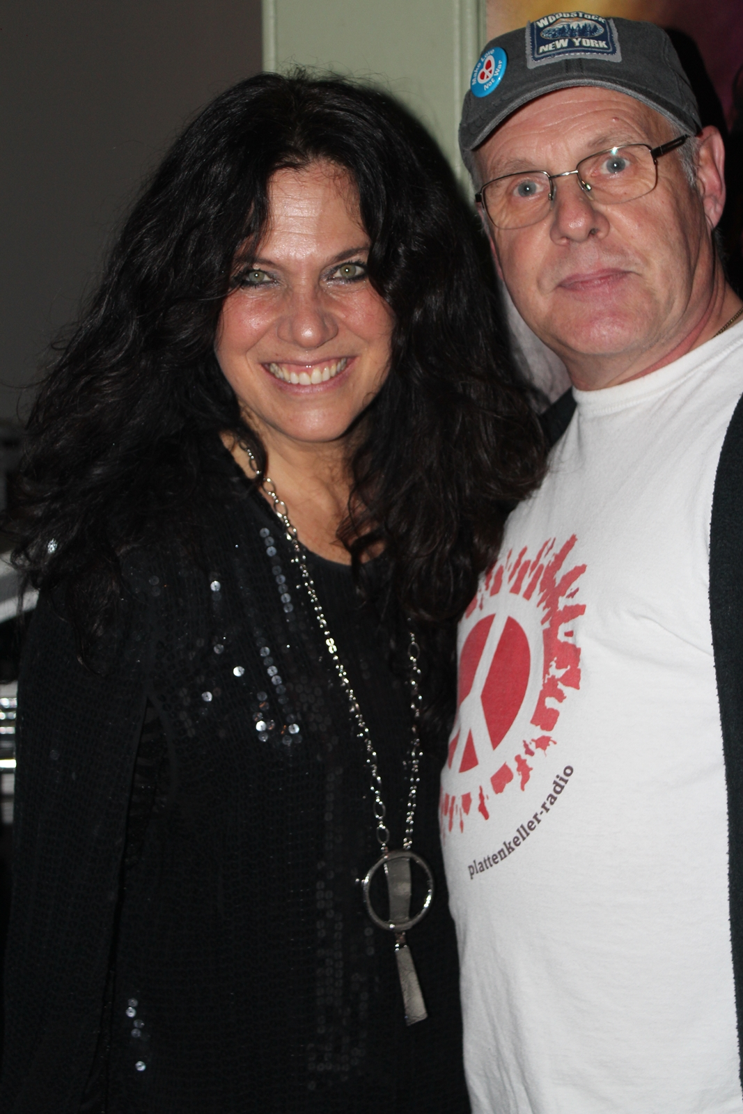 Sari Schorr (USA) mit Stephan beim Winterblues 2018 in Udestedt